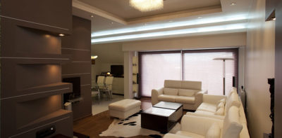 Ruban LED et dalle lumineuse